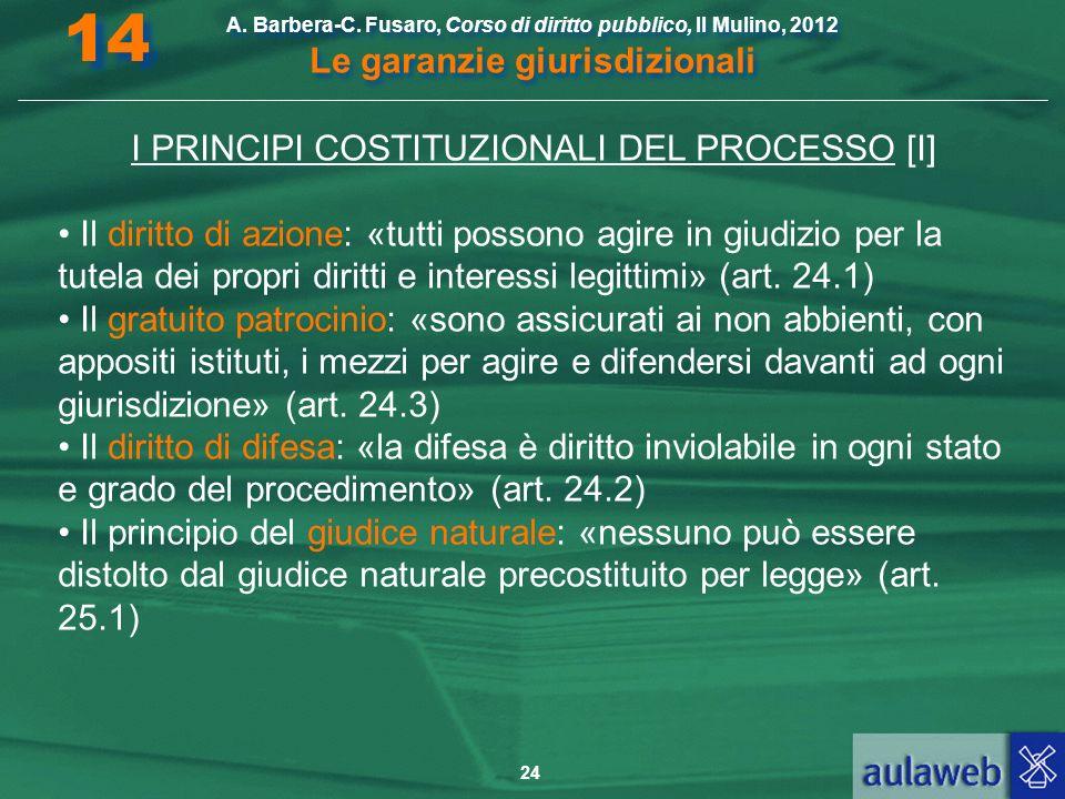 I PRINCIPI COSTITUZIONALI DEL PROCESSO [I]